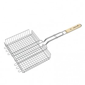 BARBECOOK - Grille double ajustable 31.5x25x5cm