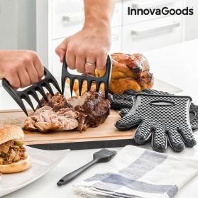 INNOVAGOODS - Griffes pour viande + gants + pinceau